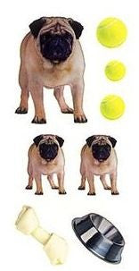 Adorable and Cute Pug Stickers #2