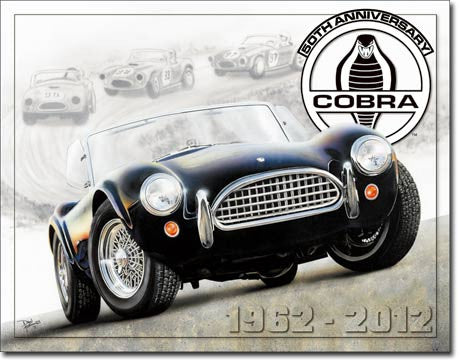 50th Anniversary Shelby Cobra Tin Sign