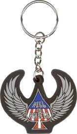 Winged Spade Hell on Wheels Keychain