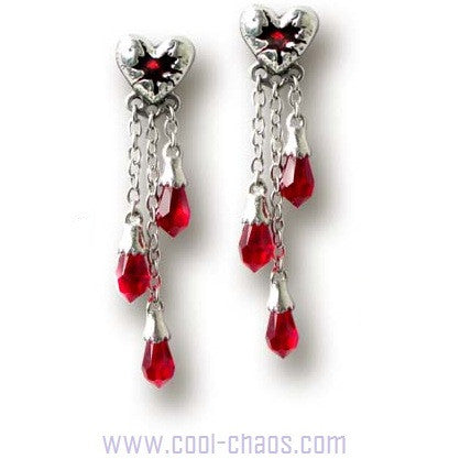 La Fleur de Bleeding Heart Earrings