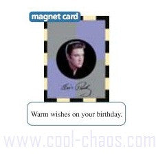 Elvis Presley Magnet Birthday Card 2 in 1 Gift!