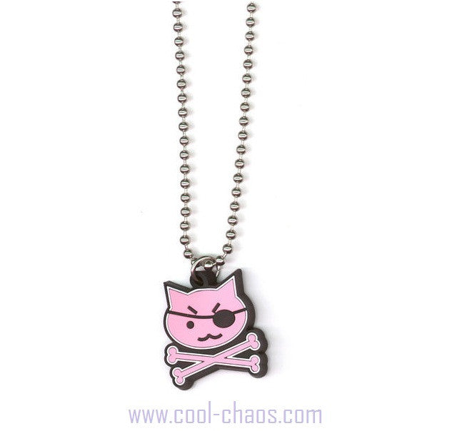 Pirate Pink Kitty Necklace