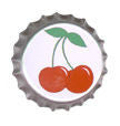 Cherry bottle cap button