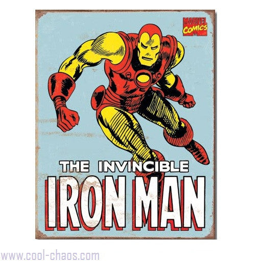 Retro-style Iron Man Tin Sign