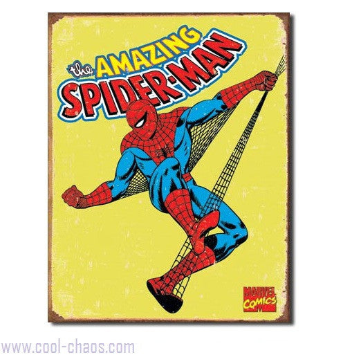 Retro-style 70's Spider-Man Tin Sign