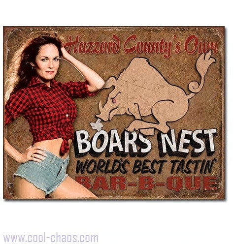 Boar's Nest Daisy Duke Tin Sign