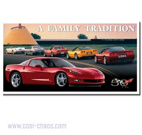 A Family Tradition Corvette Sign