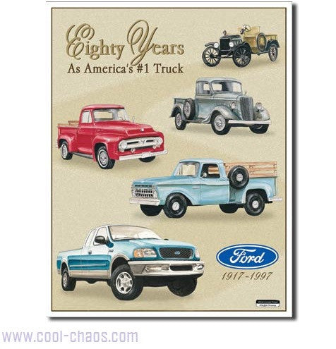 80th Anniversary Ford Truck Sign