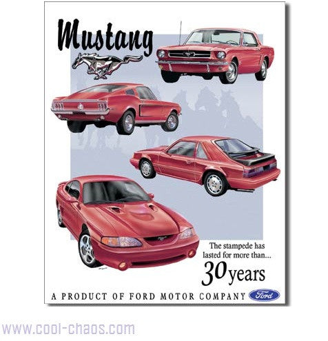 30th Anniversary Mustang Sign