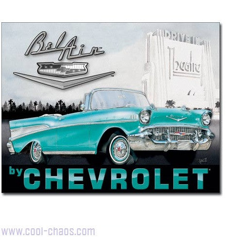57 Chevy Bel Air Sign