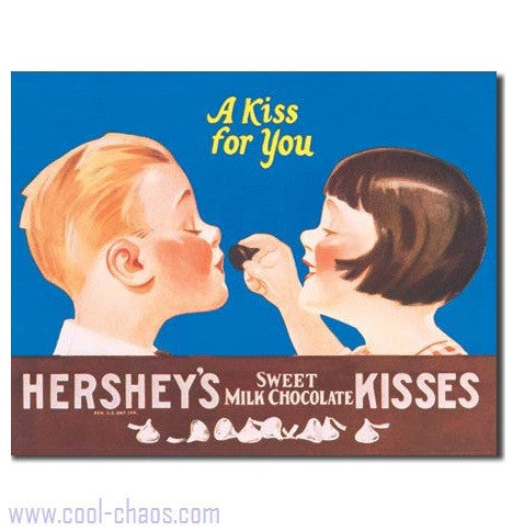 A Kiss for you. Hershey's Kisses Sign