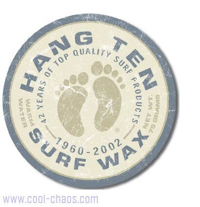 Hang Ten Surf Wax Sign