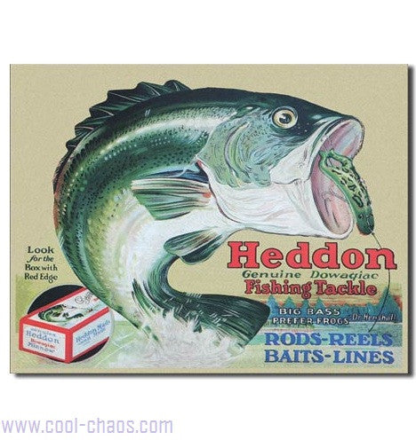 Big Bass Prefer Frogs Heddon's Sign