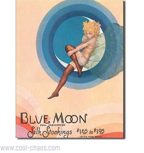 Blue Moon Stockings Vintage Ad Tin Sign