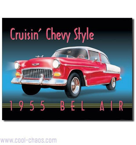 Crusin' 1955 Chevy Bel Air Sign