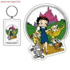 Betty Boop Wizard of Oz Keychain + Sticker Set
