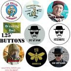 Breaking Bad Buttons Collection Set of 8 Buttons