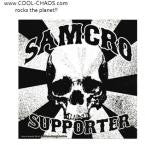 Samcro Supporter Sons of Anarchy Skull Sticker