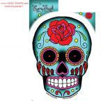 Tattoo Rose Sugar Skull Sticker