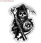 Sons of Anarchy Reaper Sticker