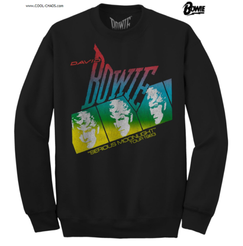 David Bowie Sweatshirt / 1983 Tour Serious Moonlight David Bowie pullover sweatshirt