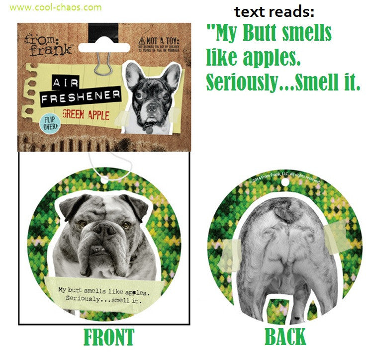 Bad Dog Naughty Dog Bulldog Air Freshener