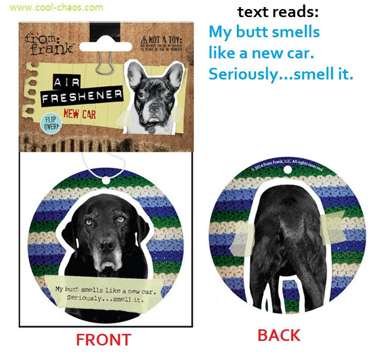 Bad Dog,Naughty Dog Black Lab Air Freshener