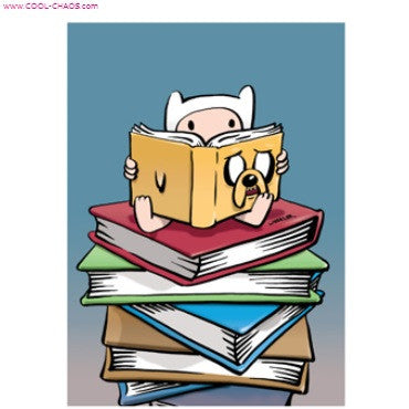 Adventure Time Jake Book Finn Read Magnet