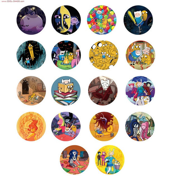 2014 Finn & Jake Buttons Set
