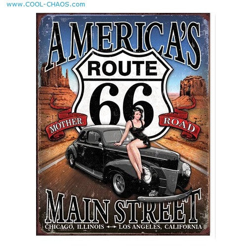 America's Main Street Mother Road Pin-up Sign