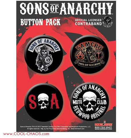 Sons of Anarchy Buttons Set