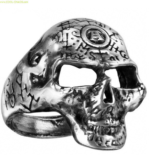 Alchemist Pewter Skull Ring
