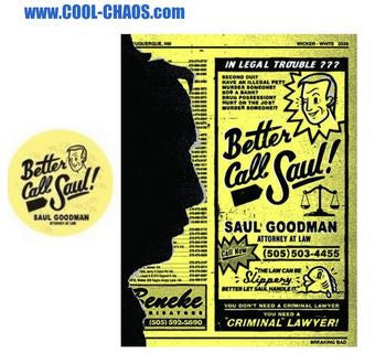 Breaking Bad Better Call Saul Magnet-Saul Goodman Button