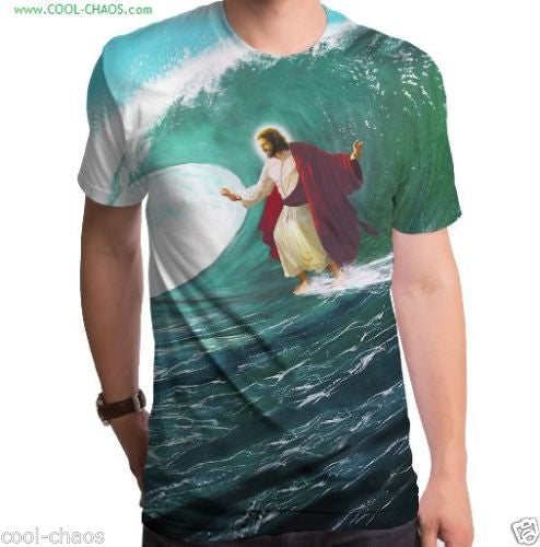 Surfing Jesus Surf T-Shirt Men's Sublimated Tee