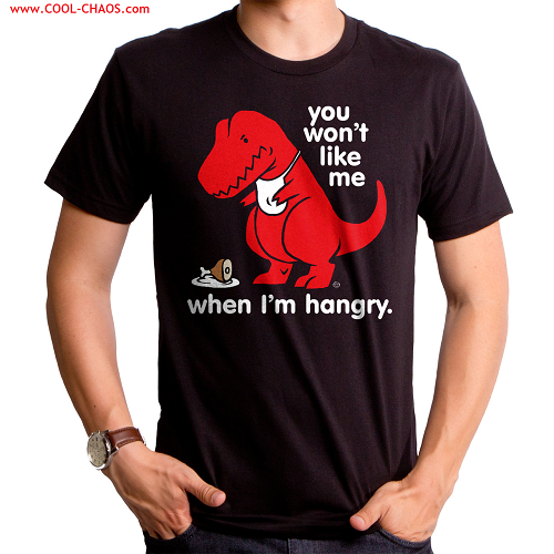 Angry + Hungry Hangry T-Rex T-Shirt