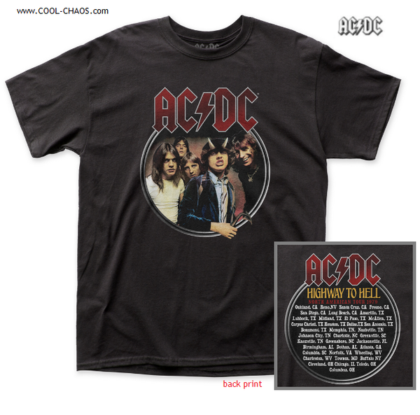 AC/DC Highway to Hell Tour T-Shirt / 1979 North American Tour AC/DC Concert Tee