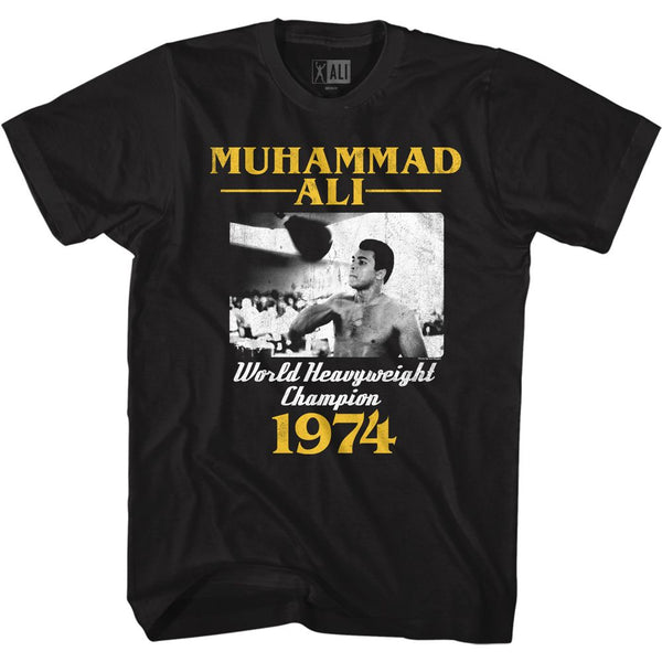 Muhammand Ali T-Shirt / Ali World Heavy Weight Champ 1974 Throwback Boxing Tee