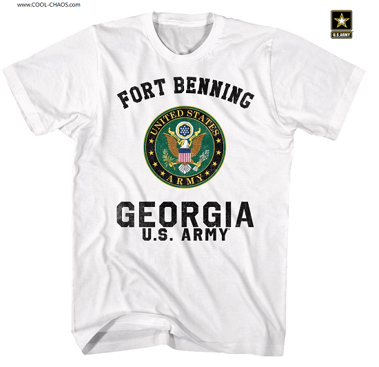 US ARMY T-SHIRT / Seal U.S. ARMY Ft. Benning Georgia Army Tee