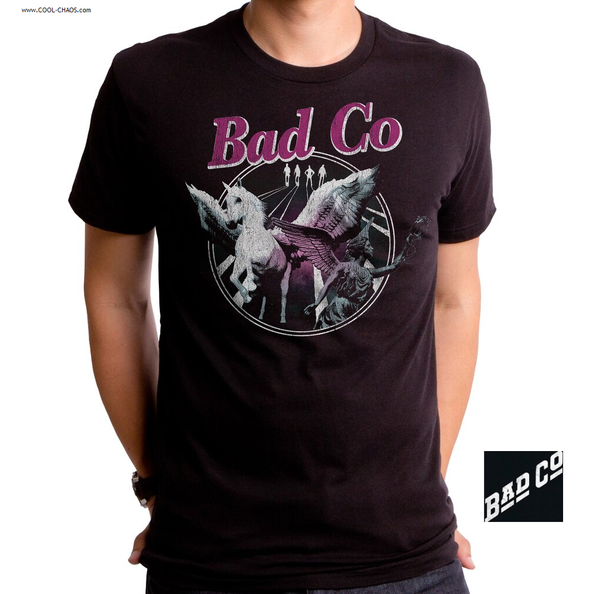 Bad Company T-Shirt / BAD COMPANY 'IN SPACE' PEGASUS ANGEL THROWBACK ROCK TEE