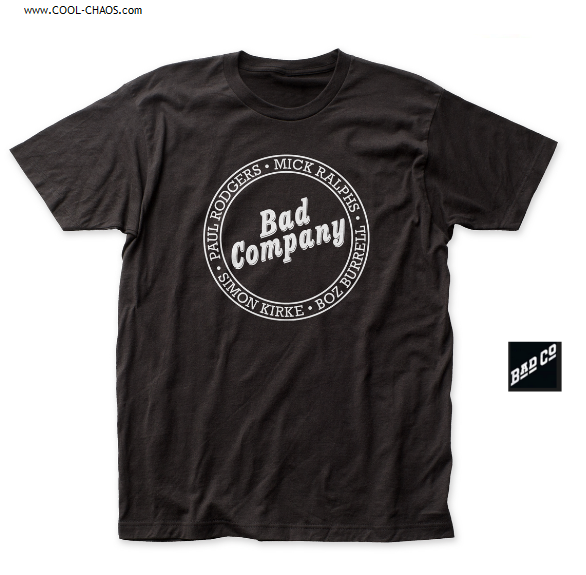 Bad Company T-Shirt / Paul Rodgers,Mick Ralphs,Simon Kirke,Boz Burrell Rock Tee