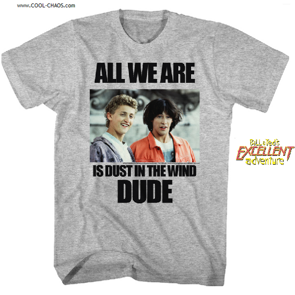 Bill & Ted's Excellent Adventure T-Shirt / Dust in the wind, Dude T-Shirt