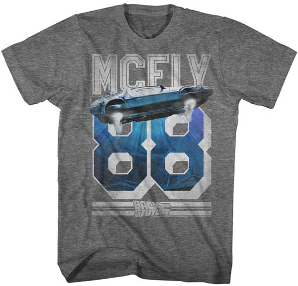 McFly 88 Delorean Time Machine T-Shirt / 80s Back to the Future Movie Tee
