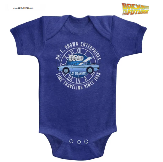 Back to the Future Onesie / 80's Doc's Time Machine Delorean Baby Romper
