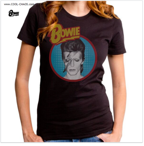 David Bowie Starman T-Shirt / Retro Rock New Tribute Juniors Tee
