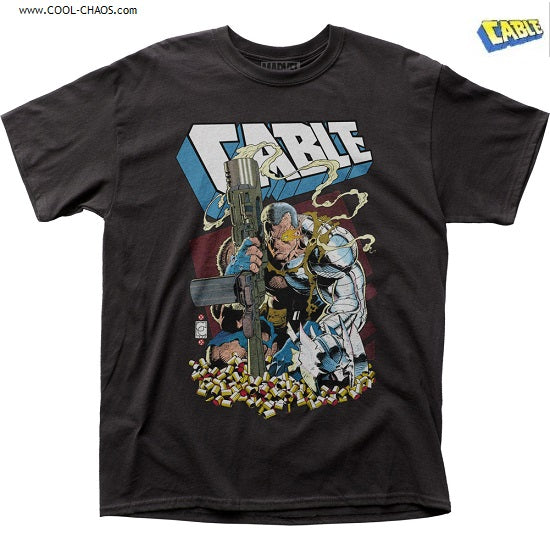 Cable T-Shirt / Marvel Cable,Gun Shell Casings Comic Book Tee