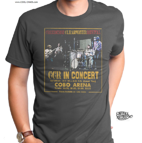 CCR T-Shirt / Creedence Clearwater Revival COBO ARENA CCR IN LIVE CONCERT Tee