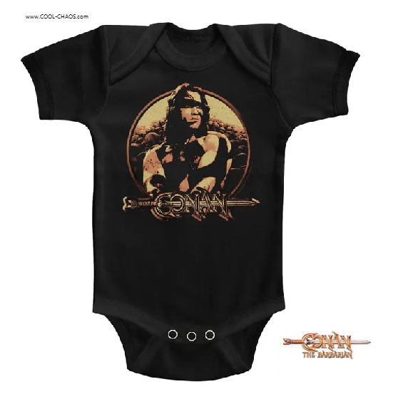 Conan the Barbarian Onesie / 80s Conan Movie Baby Romper