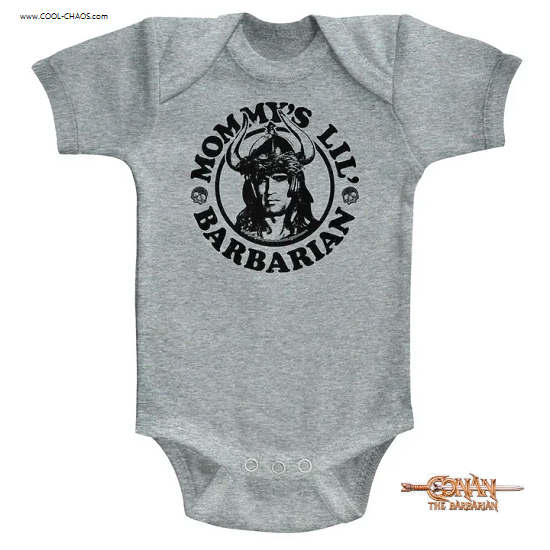 Conan the Barbarian Onesie / Mommy's Lil Barbarian Baby Romper