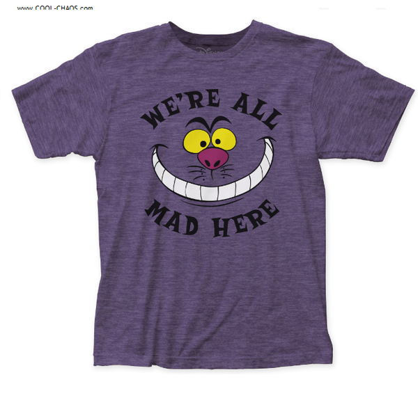 Alice's Adventures in Wonderland Cheshire Cat T-Shirt / We're all mad here