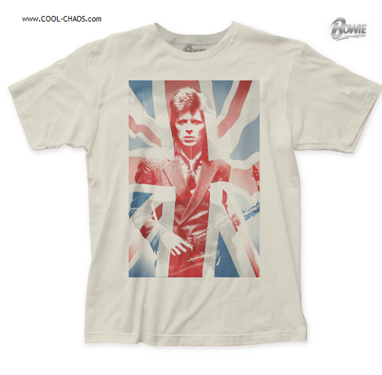 David Bowie T-Shirt / Official David Bowie Union Jack Flag Rock Tee